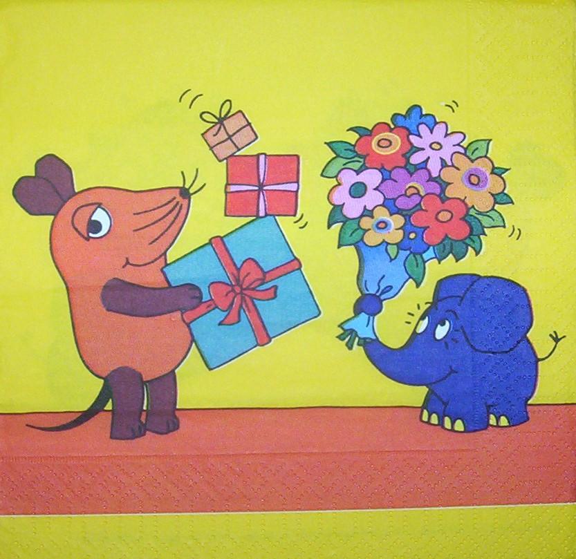 0159 Die Sendung mit der Maus Serviette - www.susipuppis ...