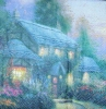 2098 Thomas Kinkade Julianne´s Cottage Serviette