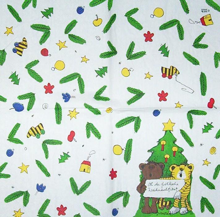 2919 janosch weihnachten serviette. Black Bedroom Furniture Sets. Home Design Ideas