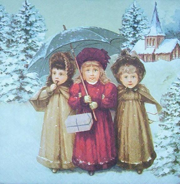 Weihnachten Nostalgisch.3672 Weihnachten Nostalgie Serviette