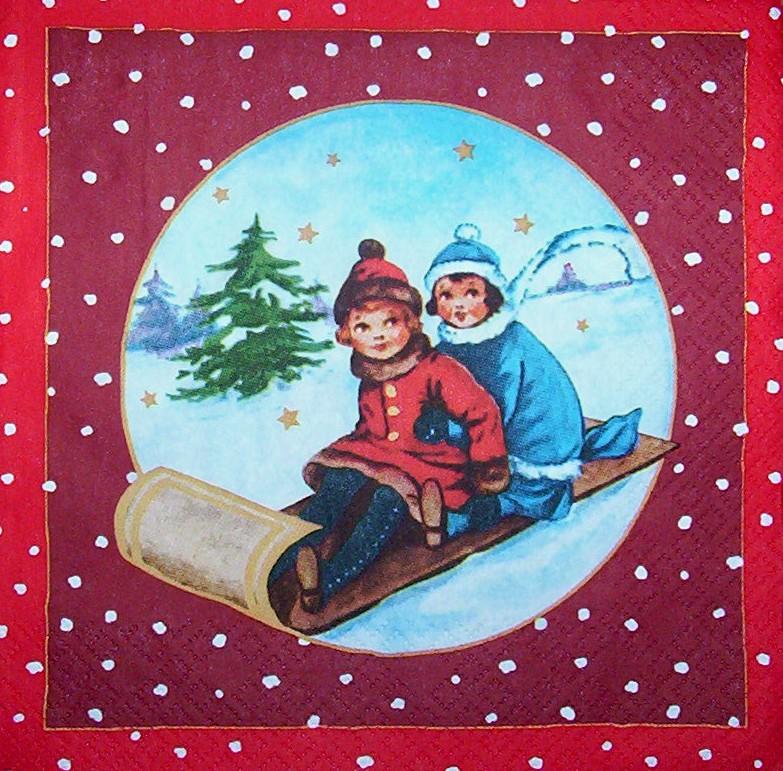 Weihnachten Nostalgisch.3694 Weihnachten Nostalgie Serviette