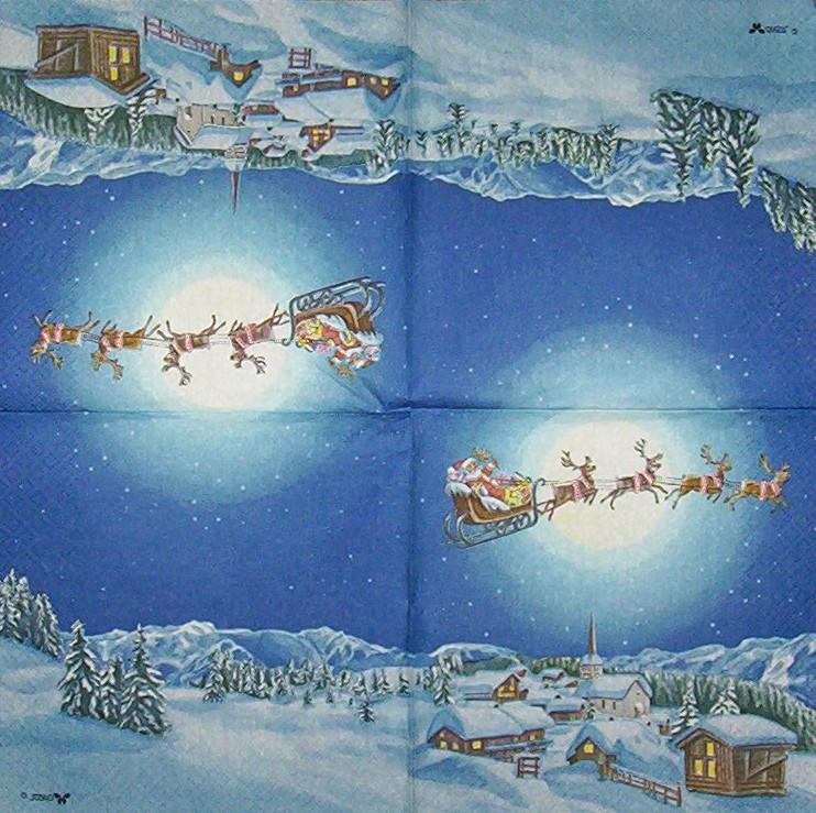 3794 winterlandschaft weihnachten serviette www. Black Bedroom Furniture Sets. Home Design Ideas