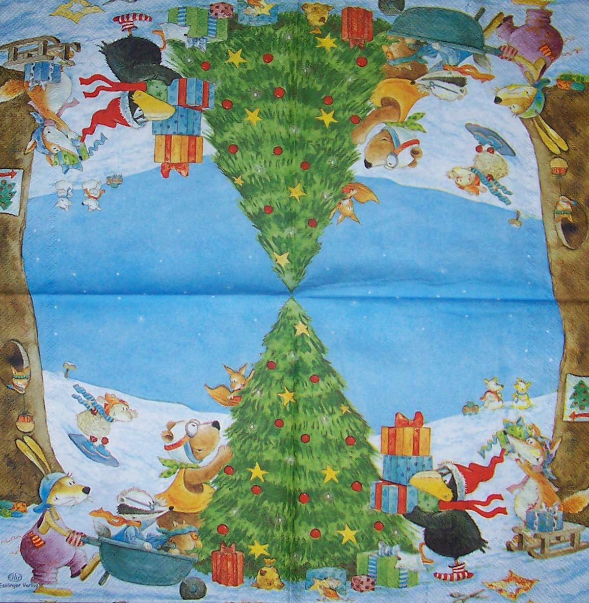 4468 rabe socke weihnachten serviette. Black Bedroom Furniture Sets. Home Design Ideas