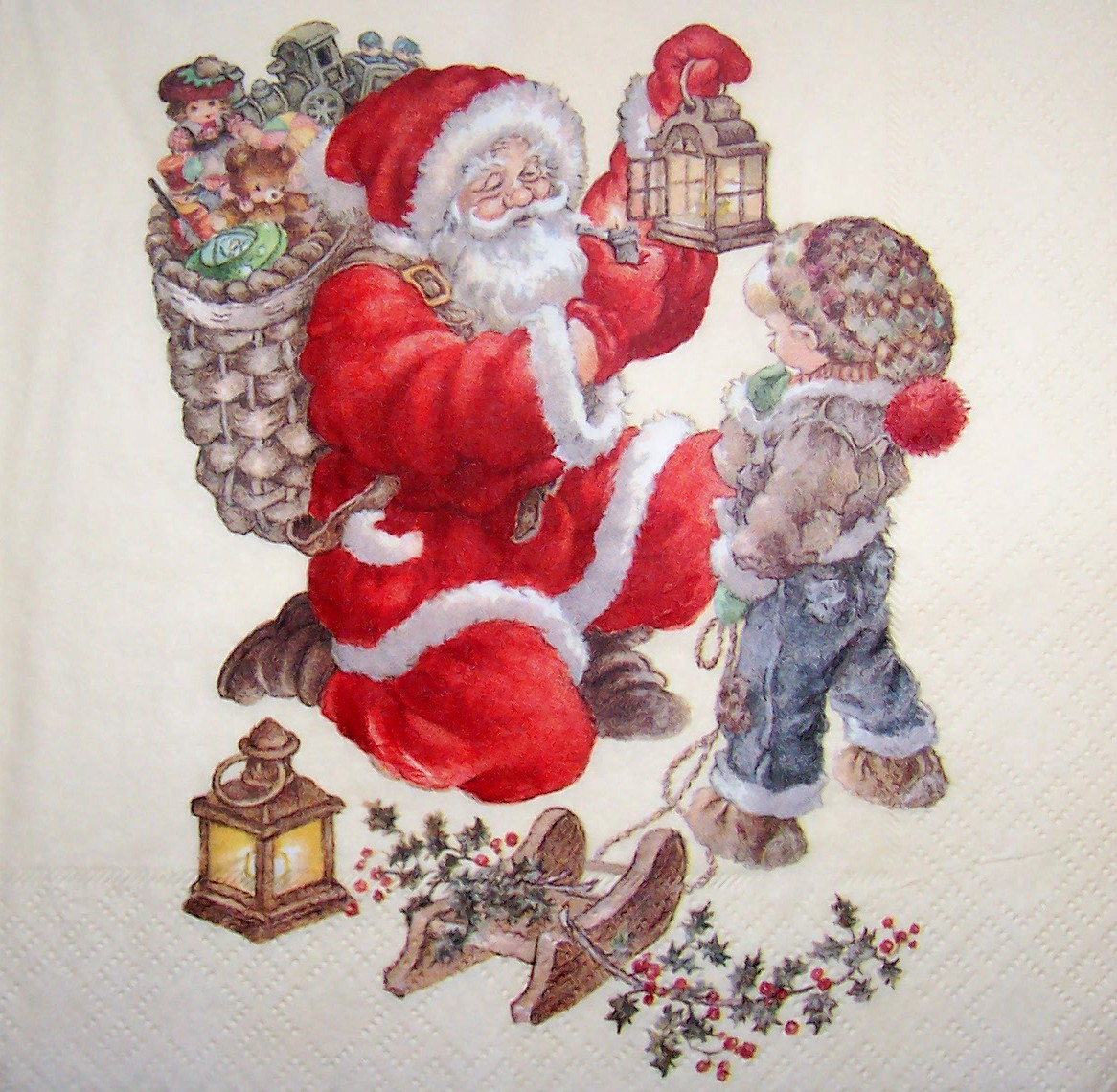 Bilder Weihnachten Nostalgisch.5227 Weihnachten Nostalgie Serviette