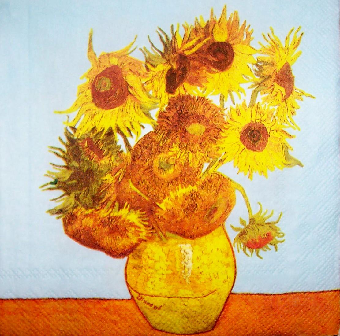 5391 Vincent Van Gogh Sonnenblume Serviette Wwwsusipuppis