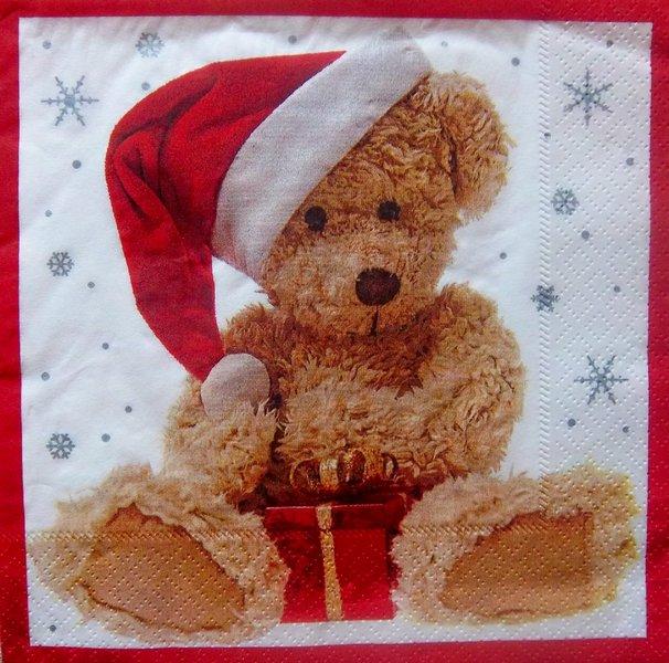 Teddy Weihnachten.7146 Teddy Weihnachten Serviette