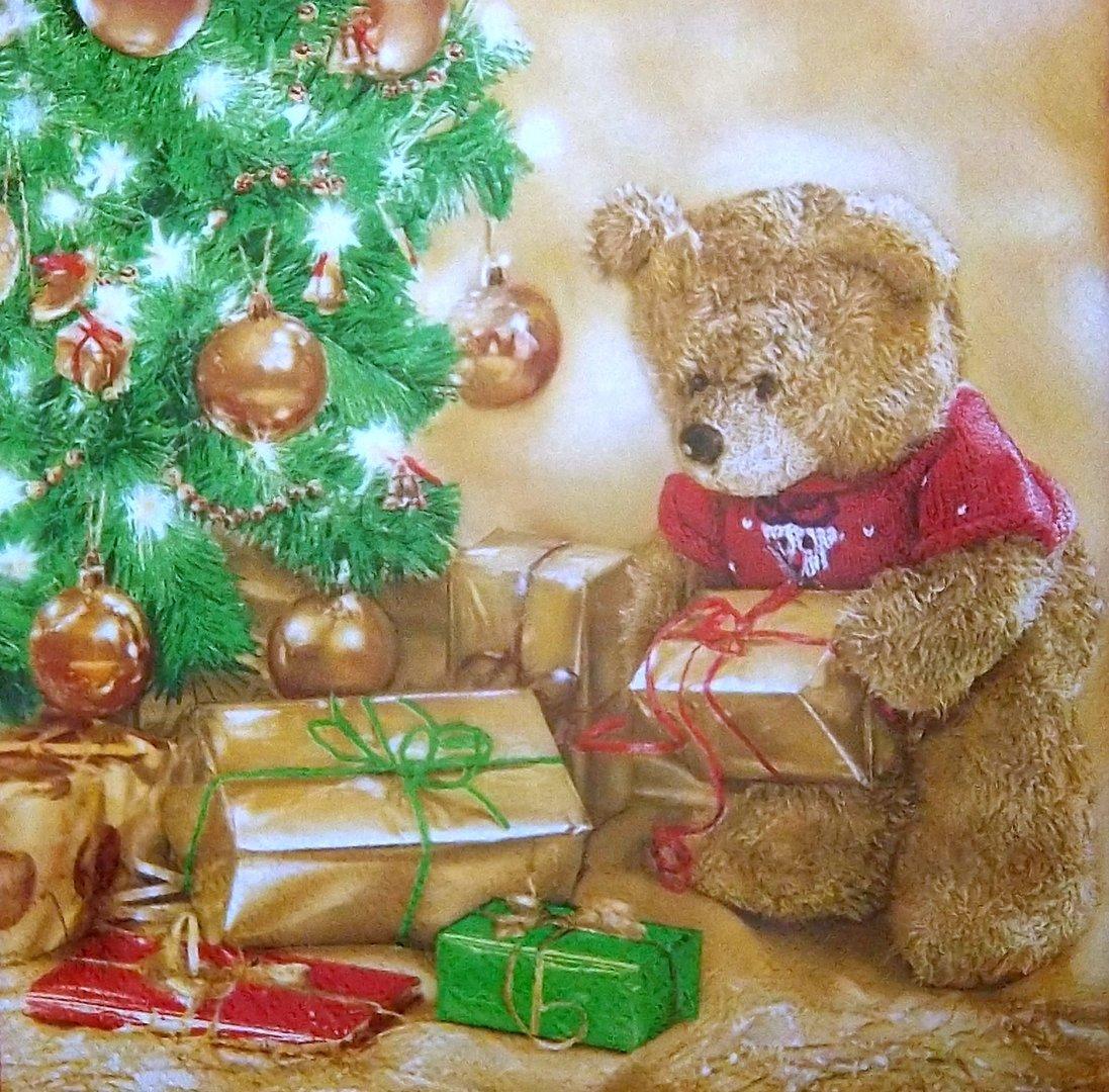 9616 weihnachten teddy serviette. Black Bedroom Furniture Sets. Home Design Ideas