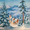 11571 Winterlandschaft Serviette
