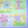 0106 Baby Geburtstag Birthday Girl Serviette