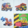 0275 Bagger LKW Lastwagen Birthday Serviette