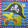 0286 Piraten Serviette
