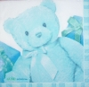 0543 Baby Geburt Boy Teddy Serviette