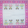 0687 Mickey Minnie Donald Serviette