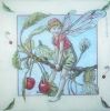 0710 Flower Fairies Kirsche Serviette