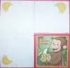 1218 Curious George Serviette