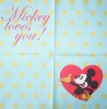 1286 Mickey Maus Serviette