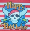 1396 Piraten Birthday Serviette