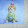 1988 Party Animals Katze Katzen Serviette