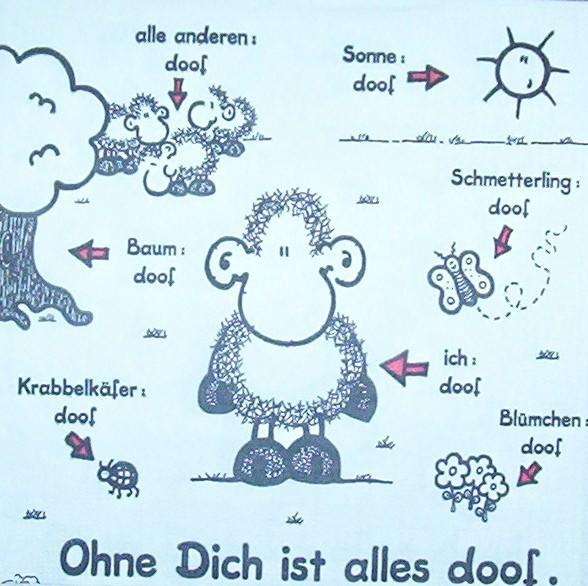 2036 Sheepworld Ohne Dich ist alles doof Serviette - www.susipuppis-serviettenwelt.de
