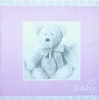 2118 Baby Geburt Teddy Girl Serviette