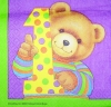 2237 Teddybären Teddy Baby Birthday Serviette