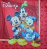 2424 Mickey Donald und Goofy Serviette