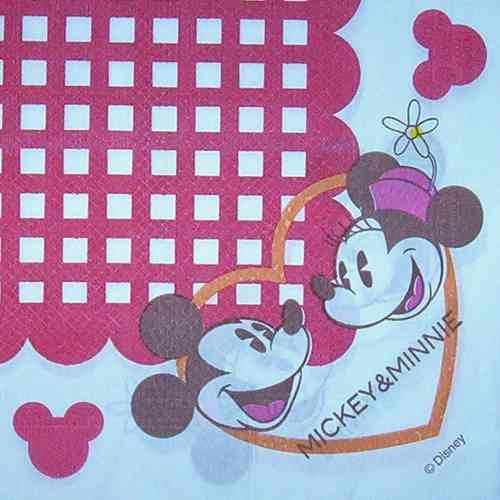 2540 Mickey und Minnie Serviette