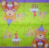 2549 Baby Birthday Teddy Serviette
