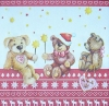 2590 Teddy Christmas Serviette