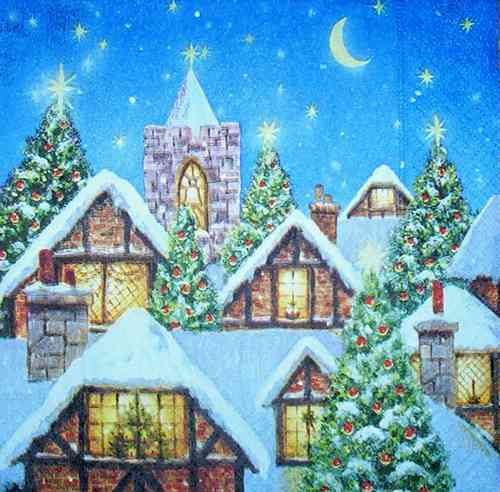 2660 Christmas Town Serviette