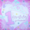 2750 Princess Baby Birthday Serviette