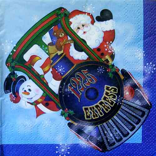 2816 Holiday Train Serviette