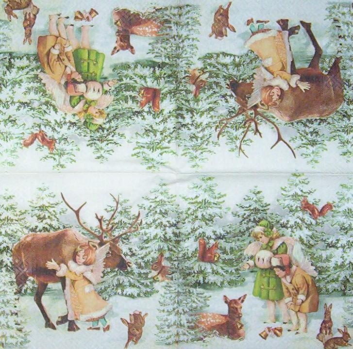2898 weihnachten christmas nostalgie serviette www. Black Bedroom Furniture Sets. Home Design Ideas
