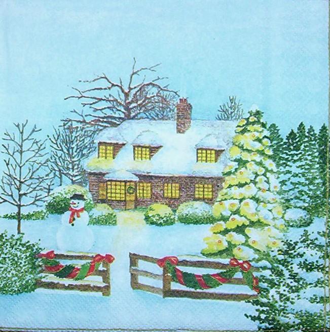 3190 winterlandschaft weihnachten serviette www. Black Bedroom Furniture Sets. Home Design Ideas