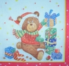 3483 Teddy Christmas Serviette