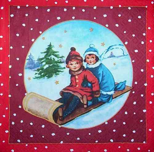 Bilder Weihnachten Nostalgisch.3694 Weihnachten Nostalgie Serviette