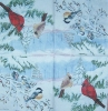 3808 Winter Birds Serviette