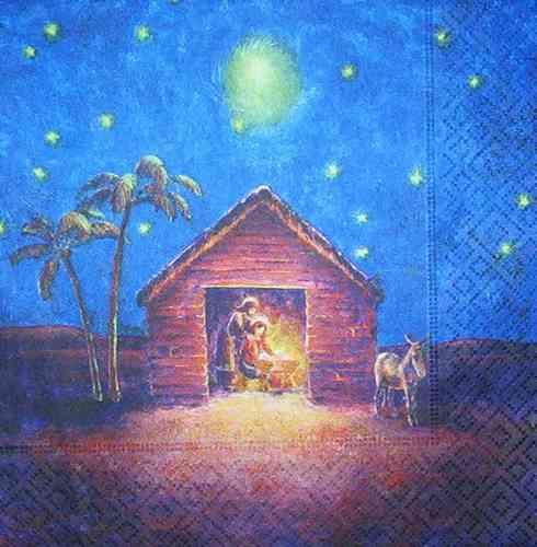 Weihnachten Krippe Bilder.3879 Weihnachten Krippe Serviette