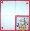 4093 Mickey Minnie Donald und Daisy Serviette
