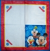 4232 Mickey Donald und Goofy Serviette
