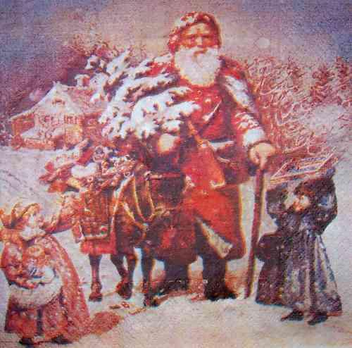 Bilder Weihnachten Nostalgisch.4659 Weihnachten Nostalgie Serviette