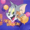 6031 Looney Tunes Tom & Jerry Birthday Serviette