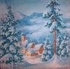 6948 Winterlandschaft Serviette