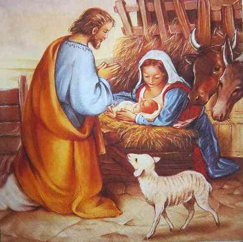 7989 Jesus is born Serviette