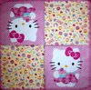 8258 Hello Kitty Serviette