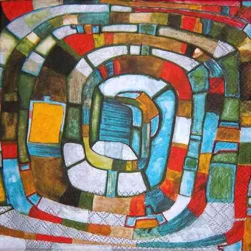 8390 Hundertwasser Kunstler Serviette Www Susipuppis Serviettenwelt De