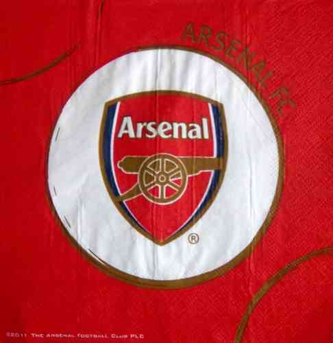 8639 Arsenal London FC Fußballverein Serviette