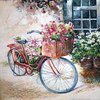 9141 Flower Bike Serviette