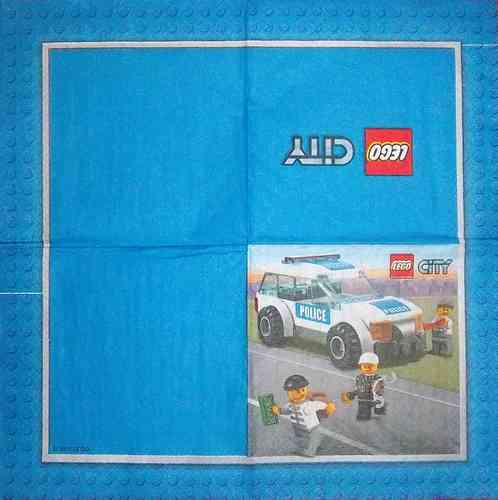9482 Lego City Polizei Serviette
