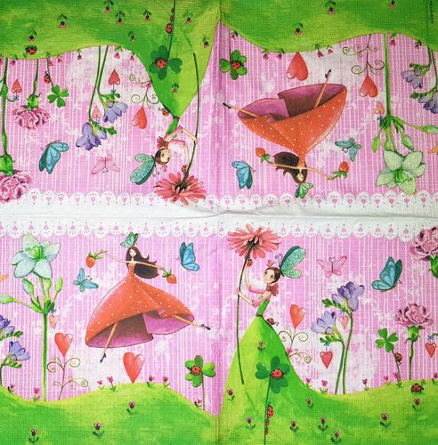 10676 Lucky Fairy Serviette